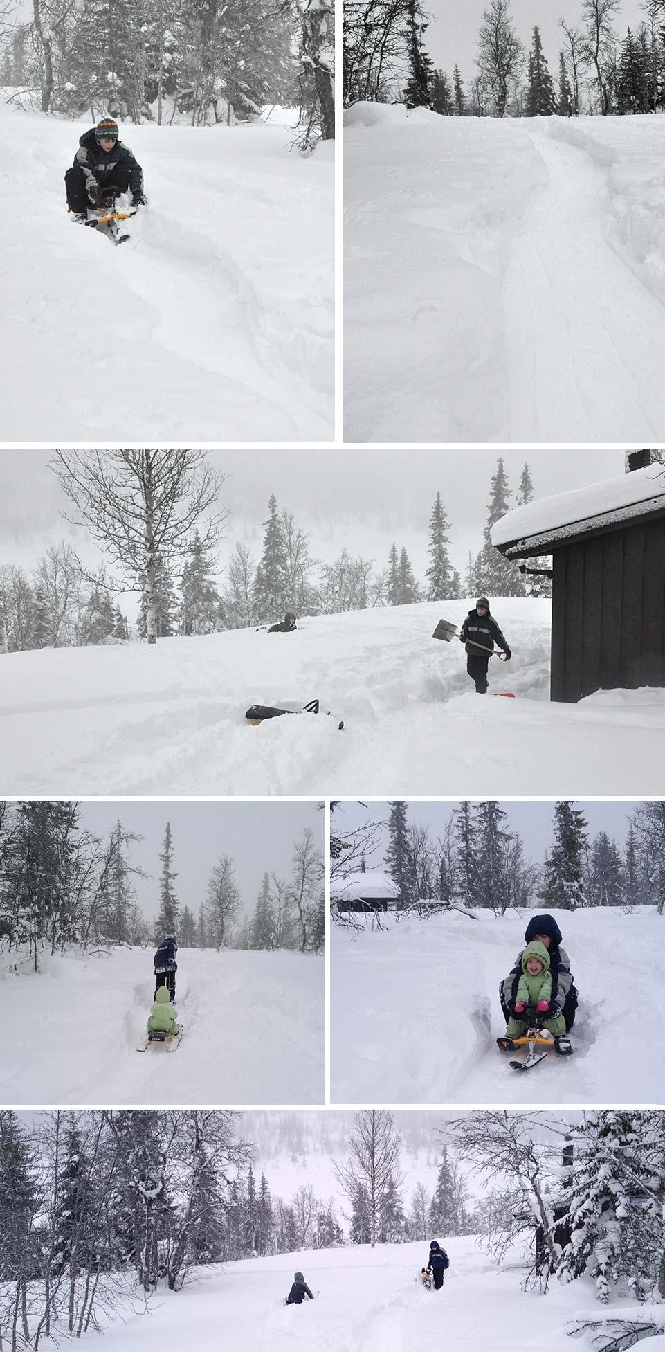 Ethan's sledding track